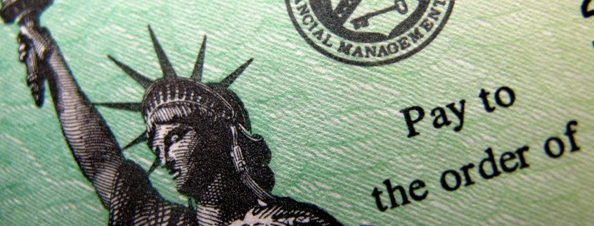 Check from the Federal Government/U.S. Department of the Treasury