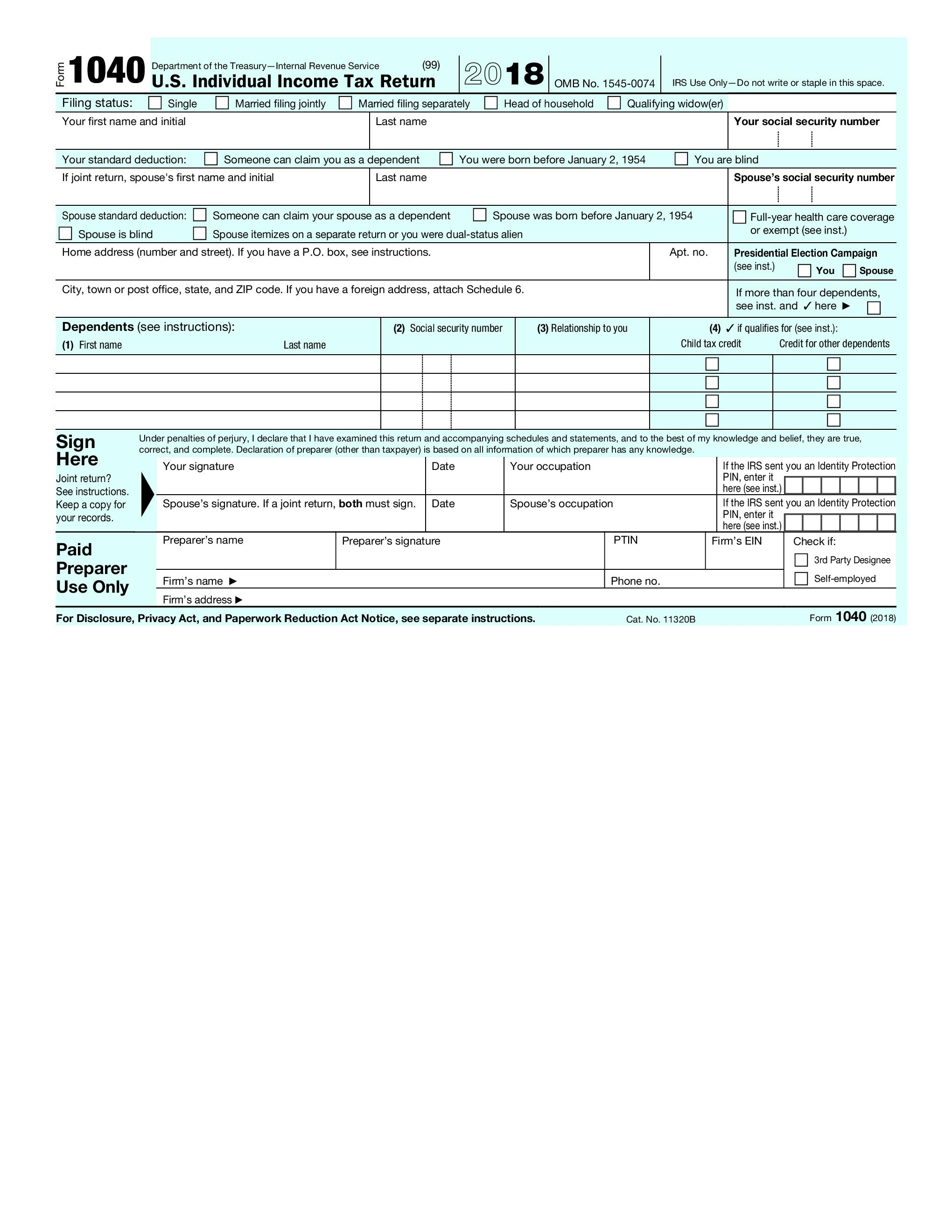 Changes to the 2018 Tax Forms