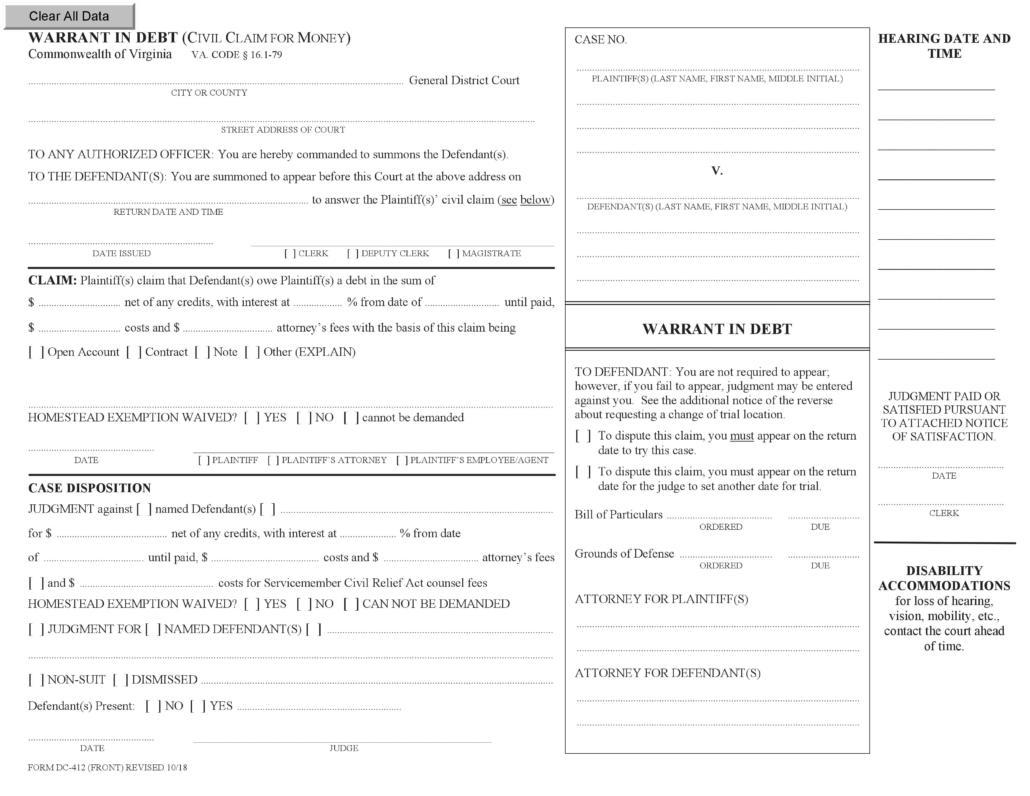 Understanding a Warrant In Debt | Ashley F  Morgan Law, PC