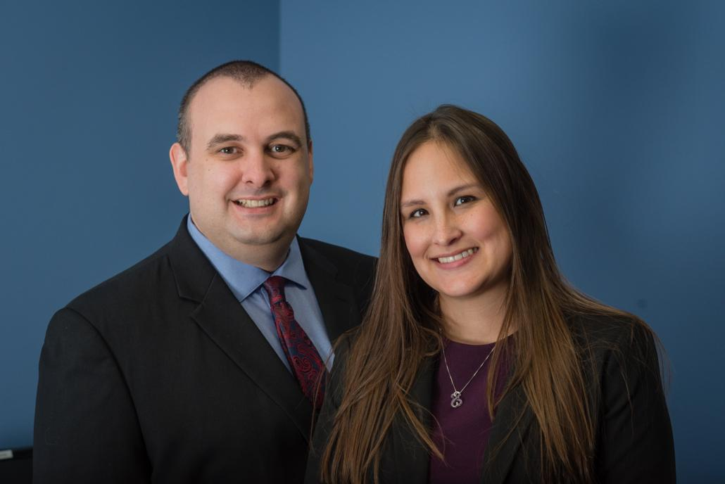 Photo of Attorneys Arthur Rosatti and Ashley Morgan